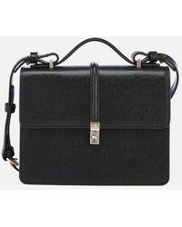 c0ba559f36cc Vivienne Westwood  kensington  Textured Zip Up Shoulder Bag in Black ...