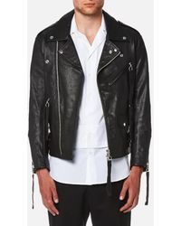 Matthew Miller - Men's Tyler Goat Leather Biker Jacket - Lyst