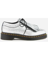 Dr. Martens - Women's 3989 Metallic Leather Brogues - Lyst