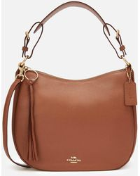 COACH - Polished Pebble Leather Sutton Hobo Bag - Lyst