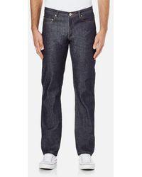 A.P.C. - Men's New Standard Mid Rise Jeans - Lyst