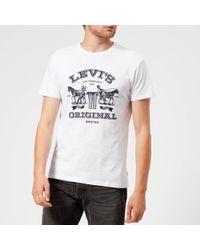 Levi's - 2 Horse Graphic T-shirt - Lyst