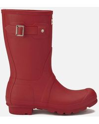 HUNTER - Original Refined Gloss Rain Boots (black) Women's Rain Boots - Lyst