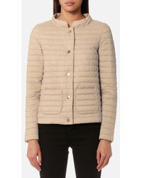 Herno - Women's Matt And Shiny Side Long Sleeve Quilted Coat - Lyst