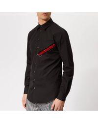 DSquared² - Tape Logo Carpenter Shirt - Lyst