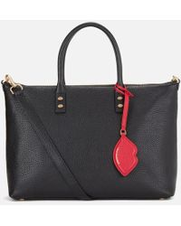 Lulu Guinness - Women's Frances Medium Tote Bag With Lip Charm - Lyst