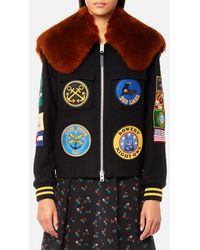 COACH - Women's Military Patch Bomber Jacket - Lyst