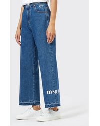 MSGM Logo Jeans - Blue