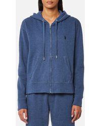 Ralph Lauren - Women's Hooded Full Zip Sweatshirt - Lyst