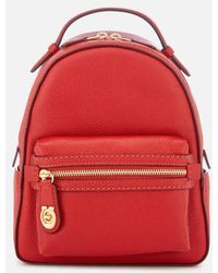 COACH - Women's New Leather Campus Backpack 23 - Lyst