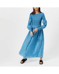 Ganni - Women's Beacon Long Sleeve Dress - Lyst