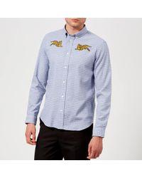 KENZO - Checked Tiger Shirt - Lyst