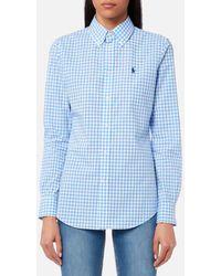 Polo Ralph Lauren - Women's Poplin Gingham Shirt - Lyst