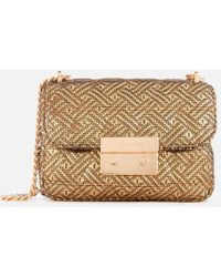 c250240b27d55 Lyst - Michael Michael Kors Sloan Editor Large Leather Shoulder Bag ...
