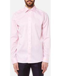 Eton of Sweden - Slim Fit Cut Away Collar Single Cuff Shirt - Lyst
