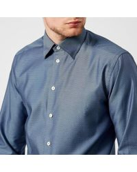 Eton of Sweden - Men's Slim Fit Diamond Weave Button Under Collar Shirt - Lyst