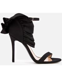 fb9d16a7560 MSGM - Frill Ankle Strap Heel Sandals - Lyst