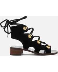 See By Chloé - Suede Lace Up Sandals - Lyst