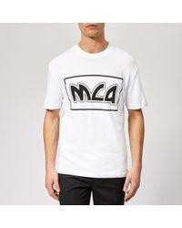 McQ - Dropped Shoulder Mcq Logo T-shirt - Lyst