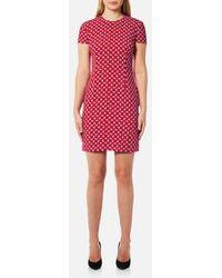 Versus - Women's Cap Sleeve Printed Dress - Lyst