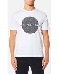 Michael Kors - Men's Wave Circle Logo Tshirt - Lyst
