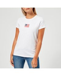 Polo Ralph Lauren - Women's Logo Flag Tshirt - Lyst