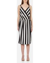 Marc Jacobs Stripe Crossover Cami Dress