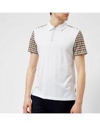 Aquascutum - Men's Rutland Vicuna Detail Short Sleeve Polo Shirt - Lyst