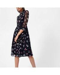 Emporio Armani - Women's Printed 3/4 Sleeve Dress - Lyst