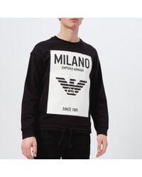 Emporio Armani - Men's Milan Logo Sweatshirt - Lyst