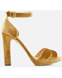 Rupert Sanderson - Women's Meadow Velvet Platform Heeled Sandals - Lyst