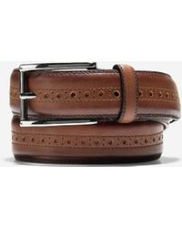 Cole Haan - Hamilton Grand 32mm Brogued Belt - Lyst