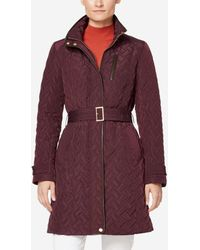 Cole Haan - Quilted Belted Trench Coat - Lyst