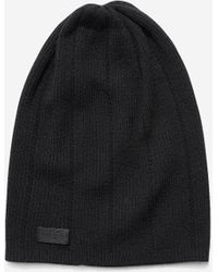 Cole Haan - Cashmere Blend Rib Pointelle Slouchy Beanie - Lyst