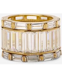 Cole Haan - Cubic Zirconia Bold Three-stack Ring - Lyst