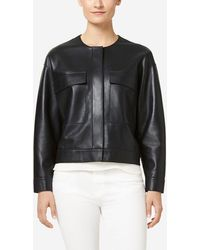 Cole Haan - Raw Edge Leather Jacket - Lyst