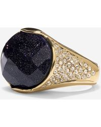 Cole Haan - Garden At Midnight Pavé Cocktail Ring - Lyst