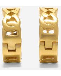 Cole Haan - Tali Logo Link Huggie Earrings - Lyst