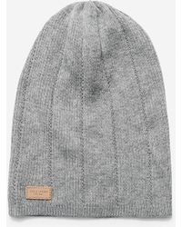 Cole Haan | Cashmere Blend Rib Pointelle Slouchy Beanie | Lyst