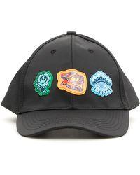 e3d96ae928e KENZO Signature Baseball Cap in Black for Men - Lyst