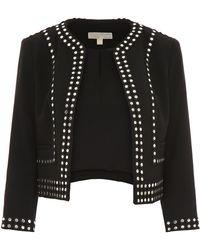 MICHAEL Michael Kors - Short Jacket With Studs - Lyst