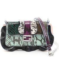 Fendi - Multicolor Elaphe Micro Baguette Bag - Lyst 3c8133d720292