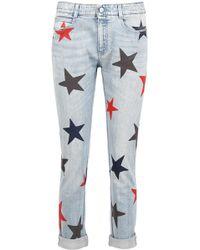 Stella McCartney - Multicolor Star Print Jeans - Lyst