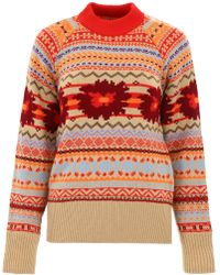 Sacai - Jacquard Pull With Cut-out - Lyst