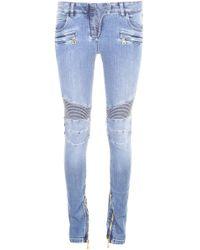 Balmain - Classic Biker Jeans - Lyst