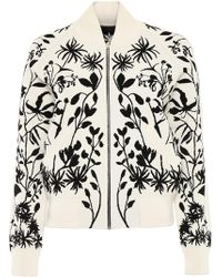 Alexander McQueen - Botanical Knit Bomber Jacket - Lyst