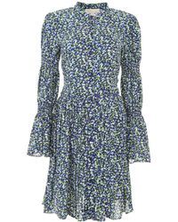 MICHAEL Michael Kors - Floral Printed Shirt Dress - Lyst