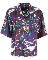 DSquared² - Printed Silk Shirt - Lyst