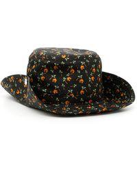 Prada - Palm Print Nylon Hat - Lyst