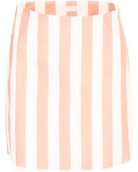 DROMe - Striped Leather Skirt - Lyst